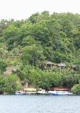 Station de vacances de plongée de Lembeh - centre de plongée Images stock
