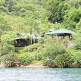 Station de vacances de plongée de Lembeh - centre de plongée Image libre de droits