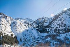 Station de vacances de Shymbulakski Il est situé dans la partie supérieure de la vallée de Medeu dans le Zaiilisky A Images libres de droits