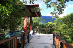 Station de vacances de source thermale Images libres de droits