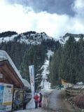 Station de vacances de vallée d'hiver Photo stock