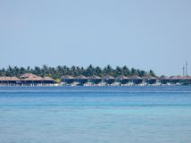 Station de vacances de vue en Maldives Image libre de droits