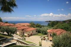Station de vacances en Grèce Images libres de droits