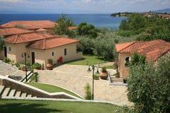 Station de vacances en Grèce Photographie stock libre de droits