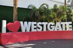 Station de vacances et casino de Westgate Las Vegas Images libres de droits