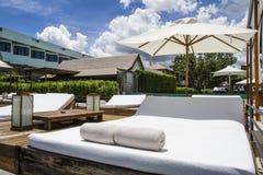 Station de vacances et station thermale de luxe d'endroit Images stock