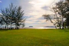 Station de vacances et station thermale du ` s Tanjung Aru de La de Shangri Photos stock