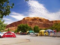 Station de vacances et terrain de camping de rv Image stock