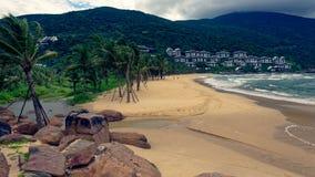 Station de vacances intercontinentale de péninsule de Da Nang images libres de droits