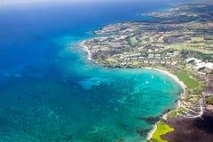 Station de vacances de Marriott de plage de Waikoloa, grande île, Hawaï Photo stock