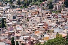 Station de vacances sicilienne de Taormina, Sicile, Italie Images libres de droits