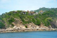 Station de vacances tropicale chez Ko Tao, Thaïlande Images libres de droits