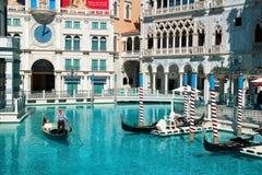 Station de vacances vénitienne d'hôtel de casino sur la bande de Las Vegas Images libres de droits