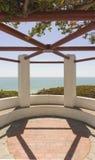 Station de vue donnant sur l'océan pacifique Photos stock