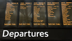 Station departures Royalty Free Stock Photography