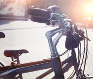 Station des bicyclettes urbaines pour le loyer du centre Image libre de droits