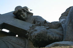 3. Station des Kreuzes, Jesus fällt das dritte mal unter das Kreuz Stockfoto