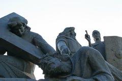 3. Station des Kreuzes, Jesus fällt das dritte mal unter das Kreuz Stockfotos