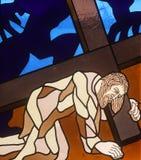 3. Station des Kreuzes, Jesus fällt das erste mal Lizenzfreie Stockbilder