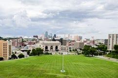 Station des syndicats et vue de Kansas City du centre photographie stock libre de droits