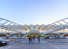 The station is designed by world famous architect Santiago Calat Stock Image