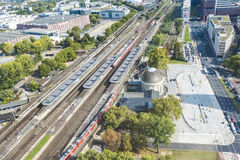 Station Deutz, Cologne, Germany Royalty Free Stock Photos