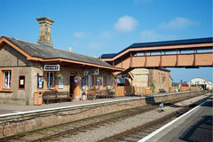 Station Devon du nord R-U de Williton Photo libre de droits