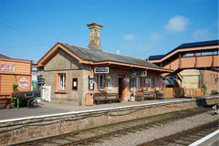 Station Devon du nord R-U de Williton images stock