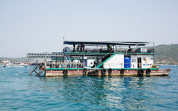 Station for divers at the Phi Phi Doh Island, Thailand Stock Images
