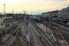 station drevet Arkivfoton