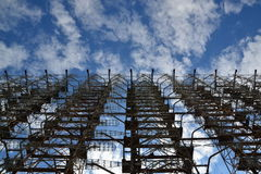 Station Duga, zone de radiolocalisation de Chornobyl Photographie stock libre de droits