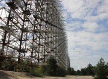Station Duga 3, zone de radiolocalisation de Chornobyl Image stock