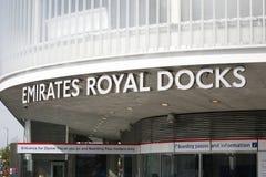 Station, Emirates Royal Docks terminal Stock Images