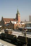Station en trein. Royalty-vrije Stock Foto