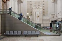 Station escalator Stock Images