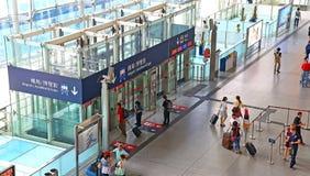 Station exprès d'aéroport de Kowloon, Hong Kong Photo stock