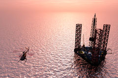 The station for the extraction of oil. Royalty Free Stock Photography