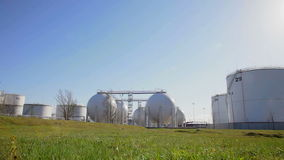 Station för bränslelagring stock video