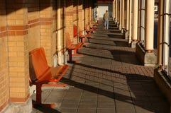 station för buss 01 Arkivbilder