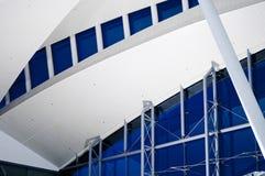 station för flygplatstakräcke Fotografering för Bildbyråer