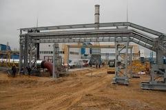 Station för gaskompressor Arkivbilder