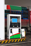 station för gassjälvservice Arkivbild