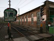 Station för HÃ-‰ V i Budapest, Ungern arkivfoto