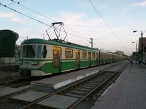 Station för HÃ-‰ V i Budapest, Ungern Arkivbilder