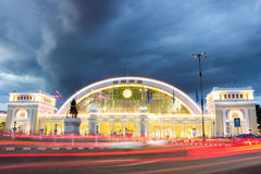 station för hua lamphongjärnväg Royaltyfria Bilder