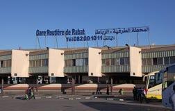 Station för huvudsaklig buss av Rabat, Marocko Fotografering för Bildbyråer