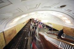 station för metro för bibliotekaimenilenina Arkivbild