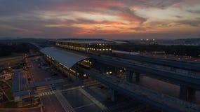 Station för MRT-MASSforstransport i Kwasa Damansara Arkivbilder