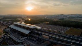 Station för MRT-MASSforstransport i Kwasa Damansara royaltyfri foto