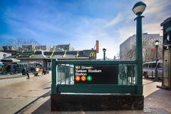 Station för NY-Yankeedrev Arkivbild